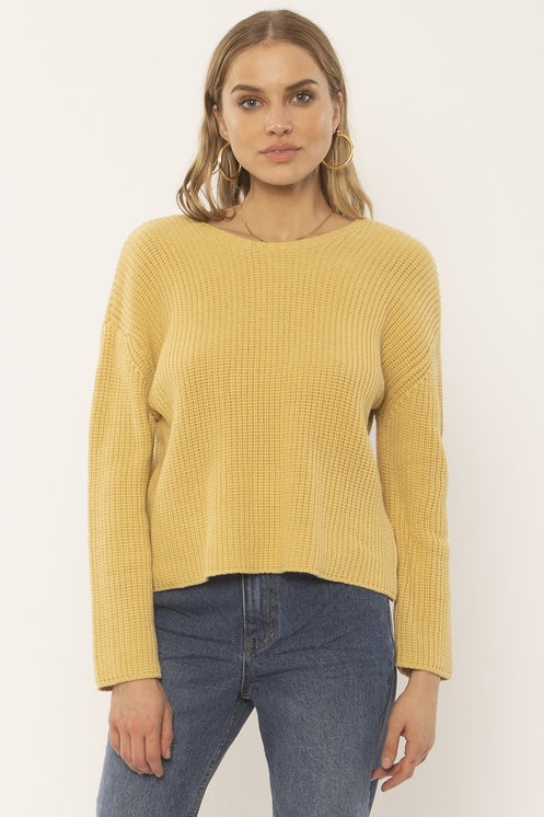 SUNSET ROAD KNIT SWEATER - GOLDEN HOUR