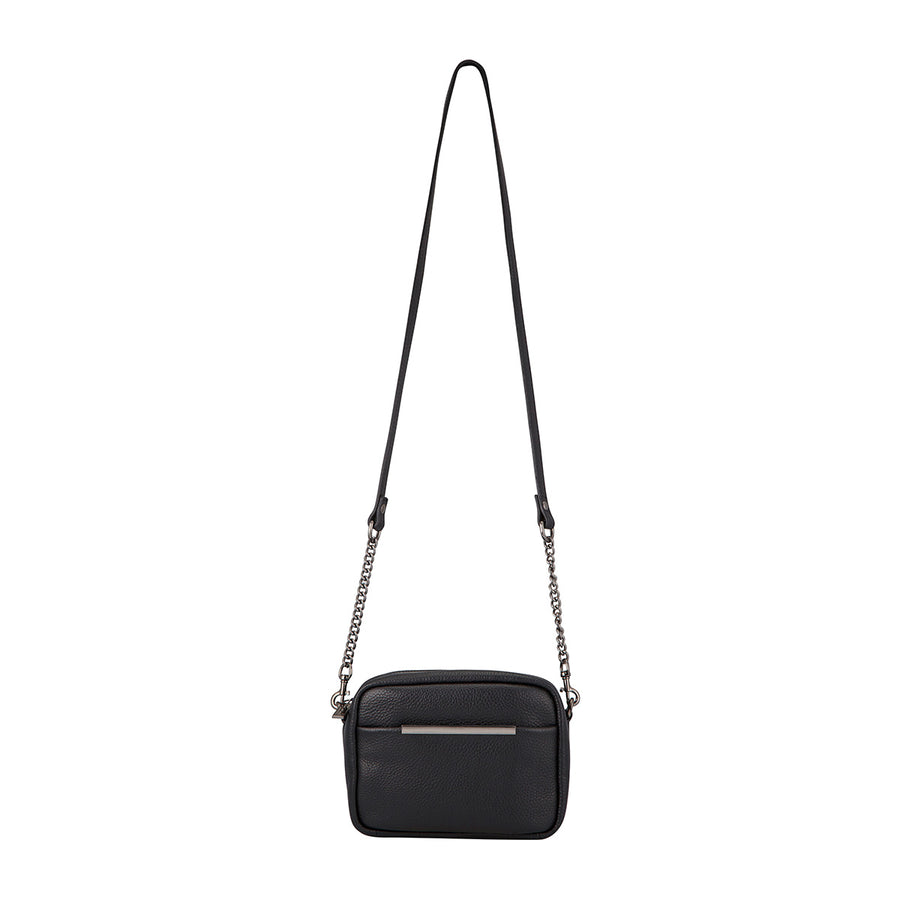 Status Anxiety bag with shoulder strap chain and pebble leather