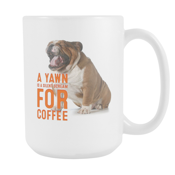 Dog Yawn 15oz Mug