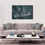 Peace On Earth Holiday Canvas