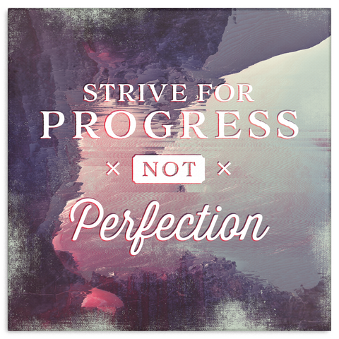 Strive For Progress Motivational Canvas