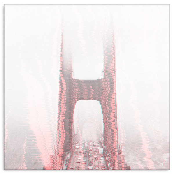 Trippy Golden Gate Canvas