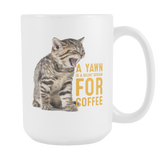 Cat Yawn 15oz Mug