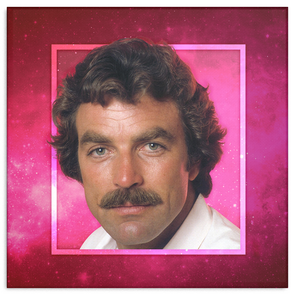 Dreamy Staches Canvas - Tom Selleck