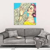 Money Kiss Canvas