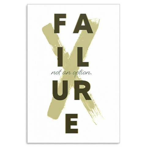 Failure Not An Option Motivational Canvas