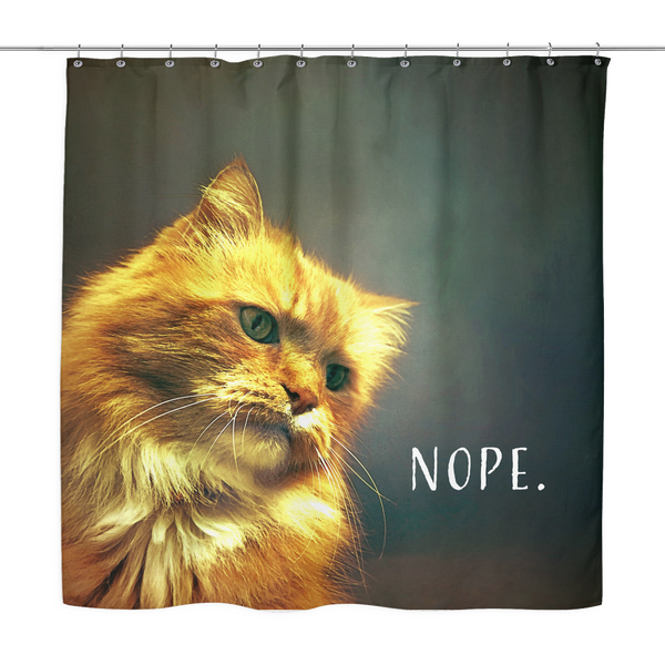 Cat Nope Shower Curtain