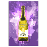 Soup Of The Day Canvas - Yellow & Purple