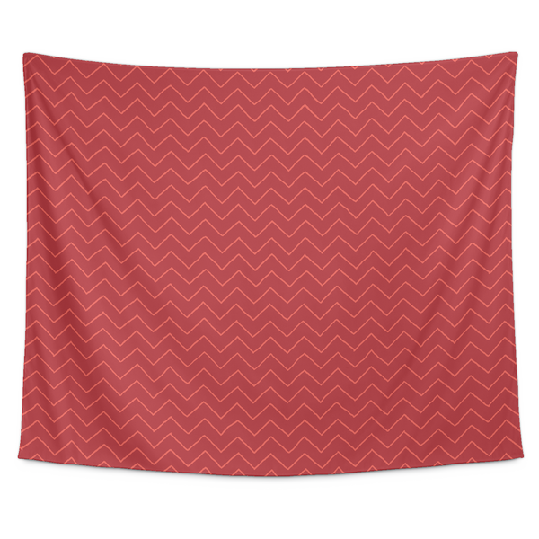 Red Chevron Tapestry