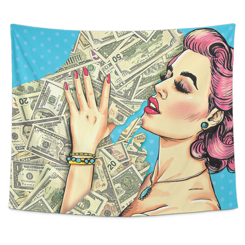 Money Kiss Tapestry