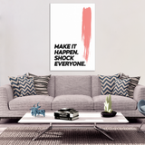 Make It Happen Motivational Canvas
