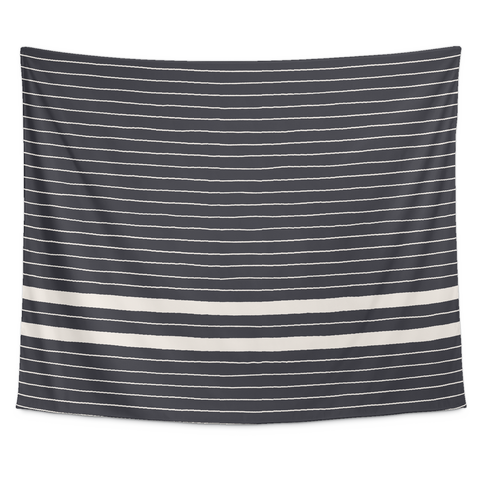 Navy Stripes Tapestry