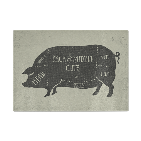 Butcher Pig Cutting Board