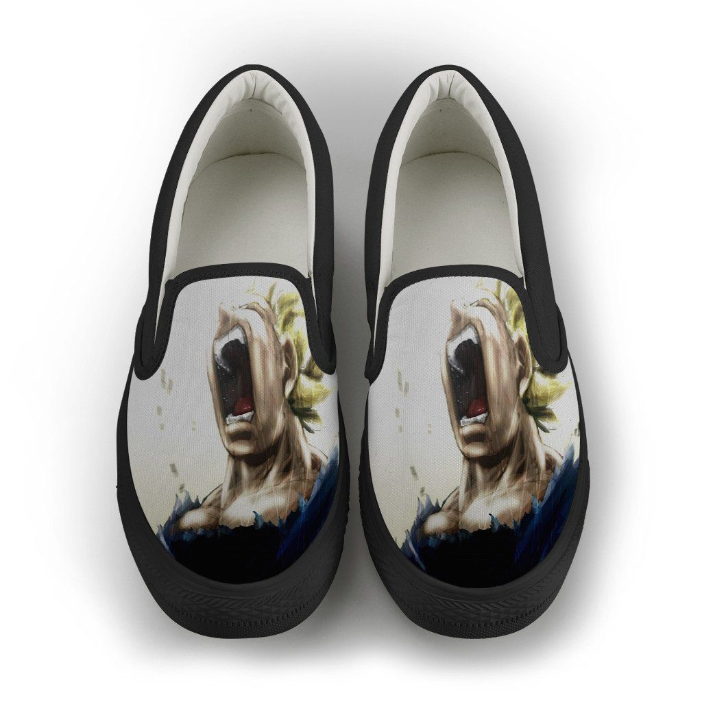 Awesome Saiyan Cry Slip On Shoes