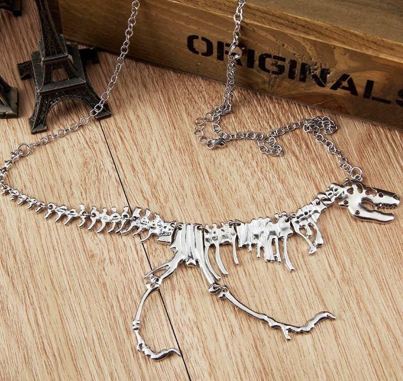 dinosaur jewellery pendant trex culture necklace this material product
