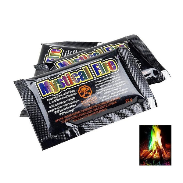15g Mystical Fire Magic Tricks Coloured Flames Bonfire Sachets Fireplace Pit Patio Color Toy Professional Magicians Pyrotechnics