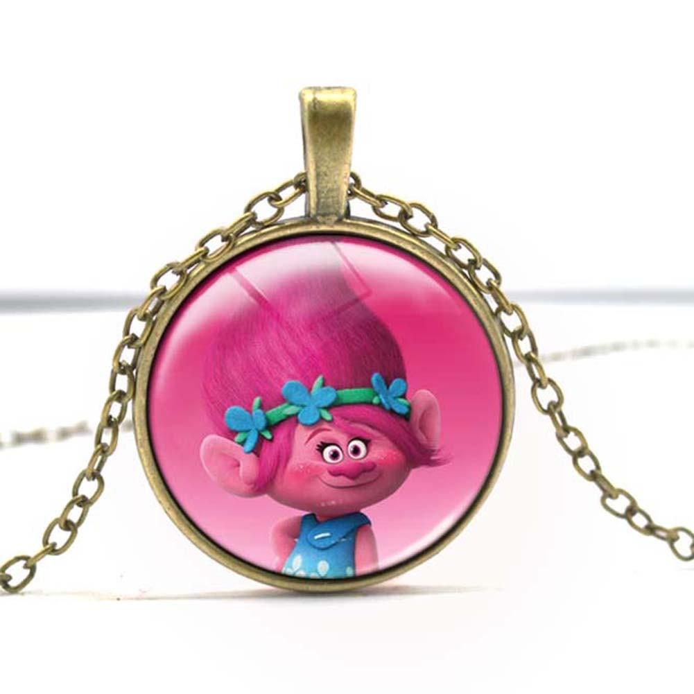 Dreamwork Movie Trolls Necklace Cartoon Poppy DJ Suki Troll Chain Necklace
