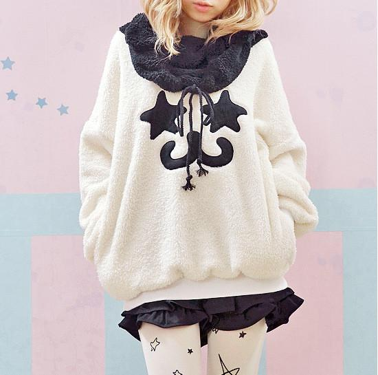 Cute Warm Star Eyes smile Cartoon Sweatshirt