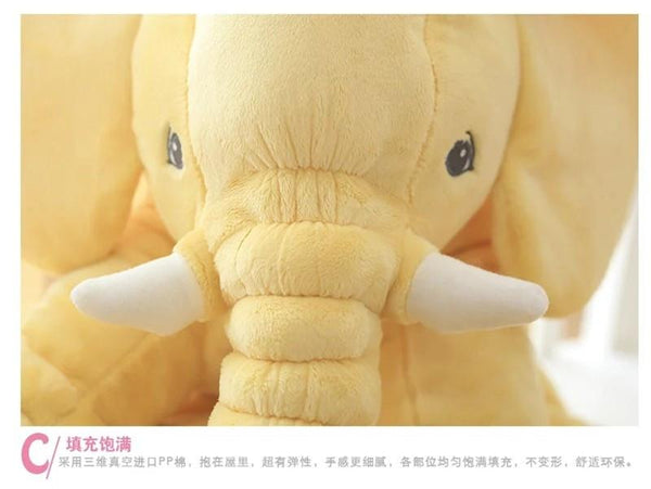 Colorful Giant Elephant Stuffed Toy Pillow