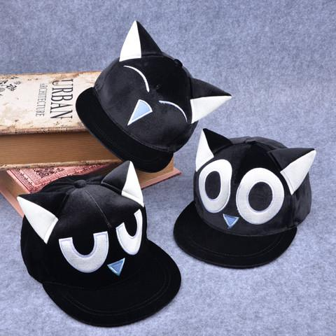 Black Cartoon Cute Ears Eyes