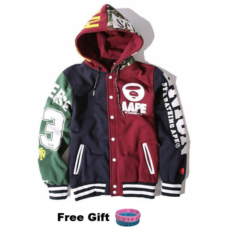 KPOP BTS JIMIN Baseball Uniform Cotton Hoodie