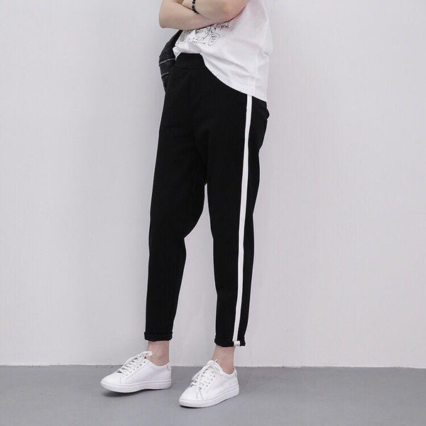 Side Striped Harem Pants