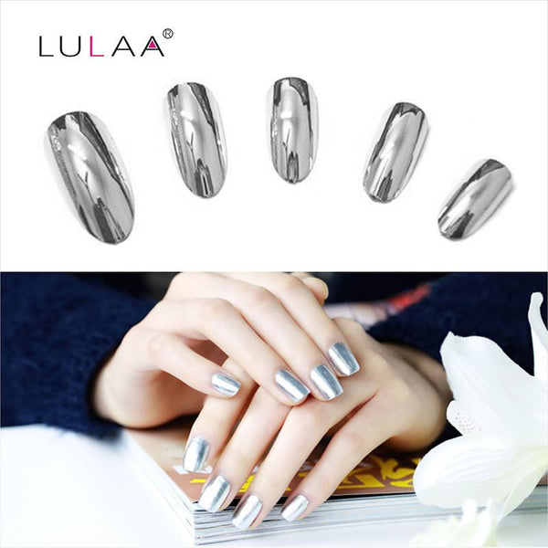 2pcs 6ml Mirror Nail Polish Metallic Lacquer Silver Nail Mirror Effect Metal Gold Nail Gel Polish Base Top Coat Nails Art Tips