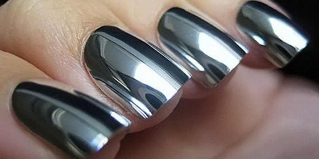 2pcs 6ml Mirror Nail Polish Metallic Lacquer Silver Nail Mirror ...