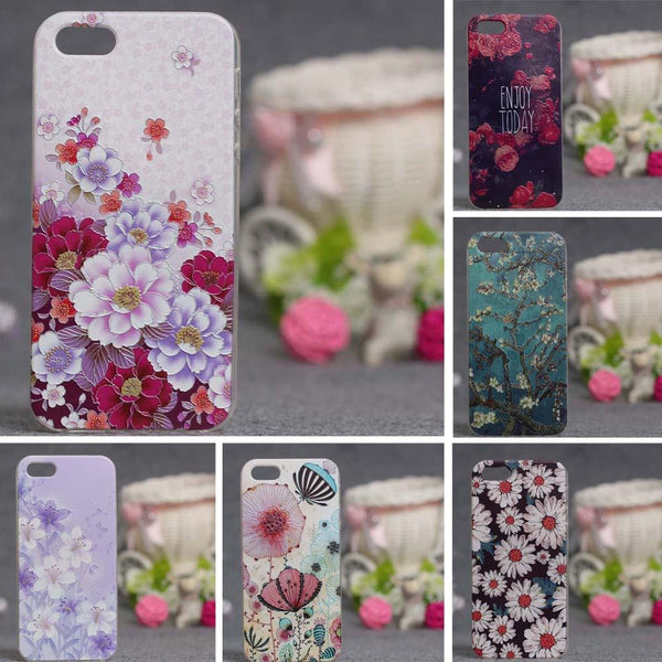 3D Printed Ultra Thin Soft Silicon Fashion Back Cover For iPhone 5s case for iphone 5 phone cases Soft TPU Cover For iPhone SE