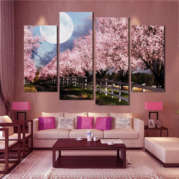 Purple Tree Large Canvas Wall Decors