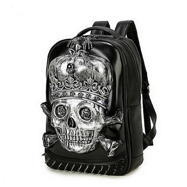 3D Skull Design Backpack