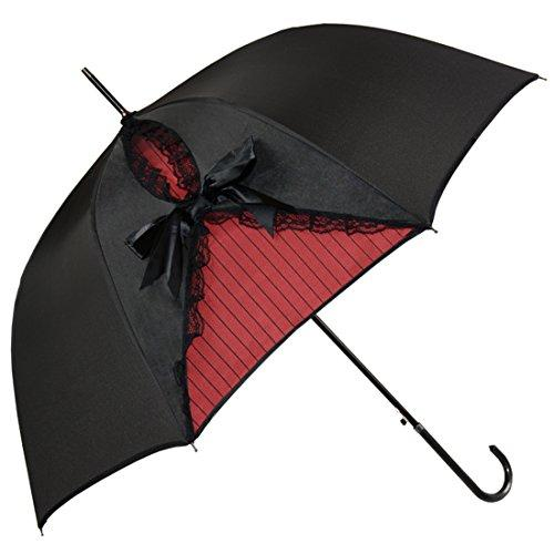 Kung Fu Smith Vintage Parasol Umbrella for Women, Gothic Windproof Lace Umbrella, British London Rain Umbrella, UV Protection