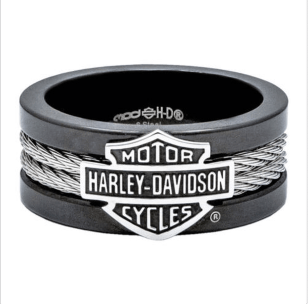 Black Biker Ring - Stainless Steel