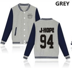 KPOP BTS Bangtan Boys baseball uniform (JHOPE)
