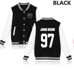 KPOP BTS Bangtan Boys baseball uniform (JK97)