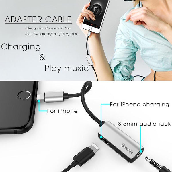 Audio Cable Adapter For iPhone 7 Earphone Cable For Lightning to 3.5mm Headphone Jack Adapter For iPhone 7 Plus aux Cable