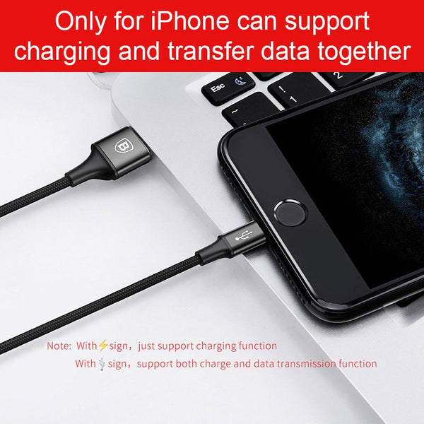Baseus USB Cable For iPhone X 8 7 6 Charging Charger 3 in 1 Micro USB Cable For Android USB Type c Type-c Mobile Phone Cables