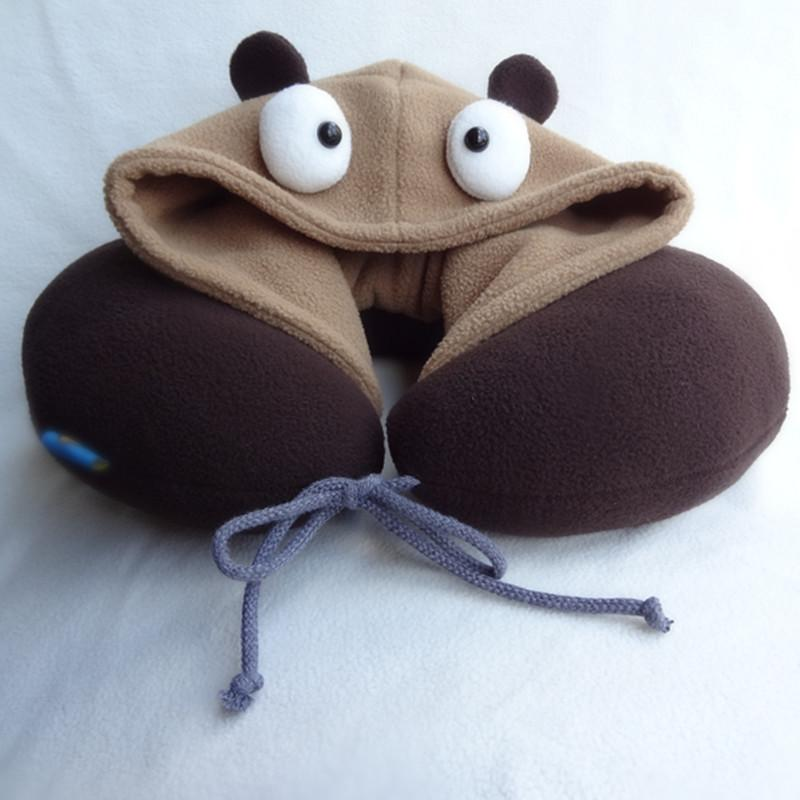 Cute Brown Hoodie Pillow