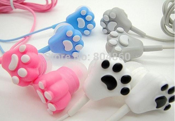 Cat Paw Earphones