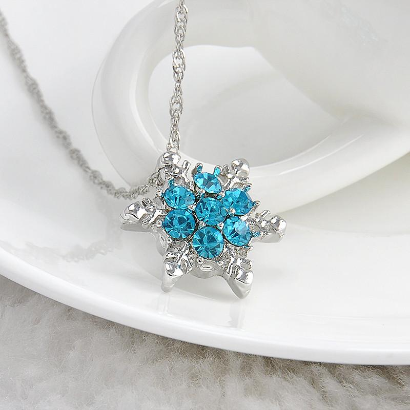 Snowflake zircon flower silver necklaces pendants jewelry for snowflake zircon flower silver necklaces pendants jewelry for women aloadofball Image collections