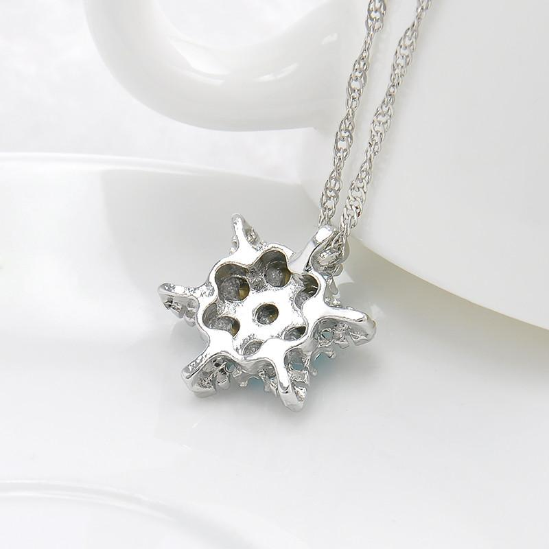 Snowflake zircon flower silver necklaces pendants jewelry for snowflake zircon flower silver necklaces pendants jewelry for women aloadofball Images