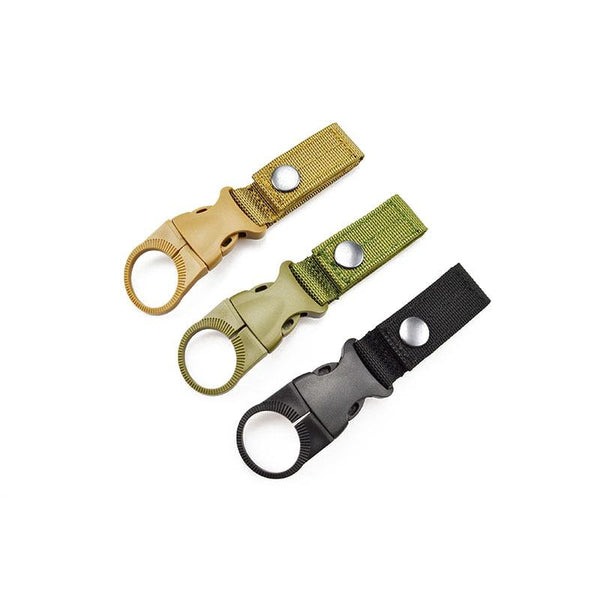 Clearance Outdoor Military Nylon Webbing Buckle Hook Water Bottle Holder Clip EDC Climb Carabiner Belt Backpack Hanger Camp