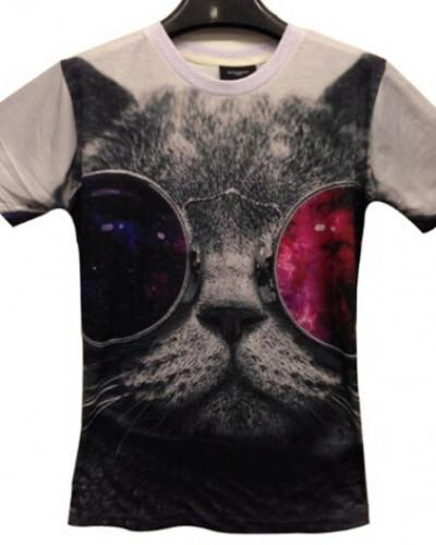 Cool 3D Cat Printing T Shirts