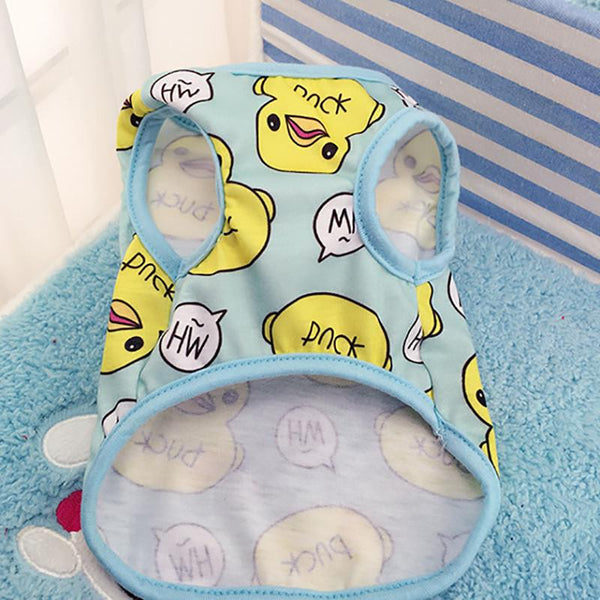Cute Pet Dog Clothes Duck Printed