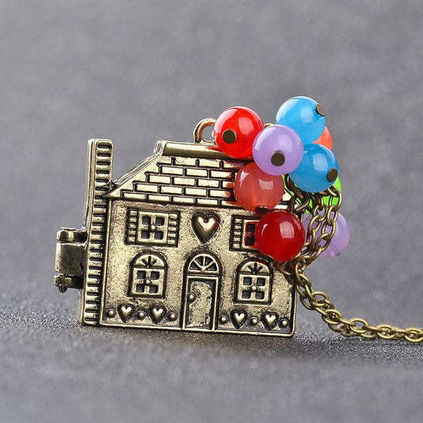beautiful Flying House Necklace