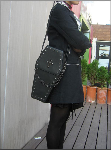 Awesome Coffin Purse And Backpack