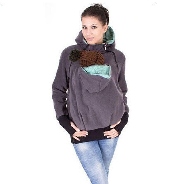 3 in One Maternity Hoodie s/ Carry Baby Sweatshirt