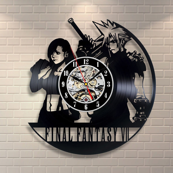 Final Fantasy Vinyl Record Wall Clock