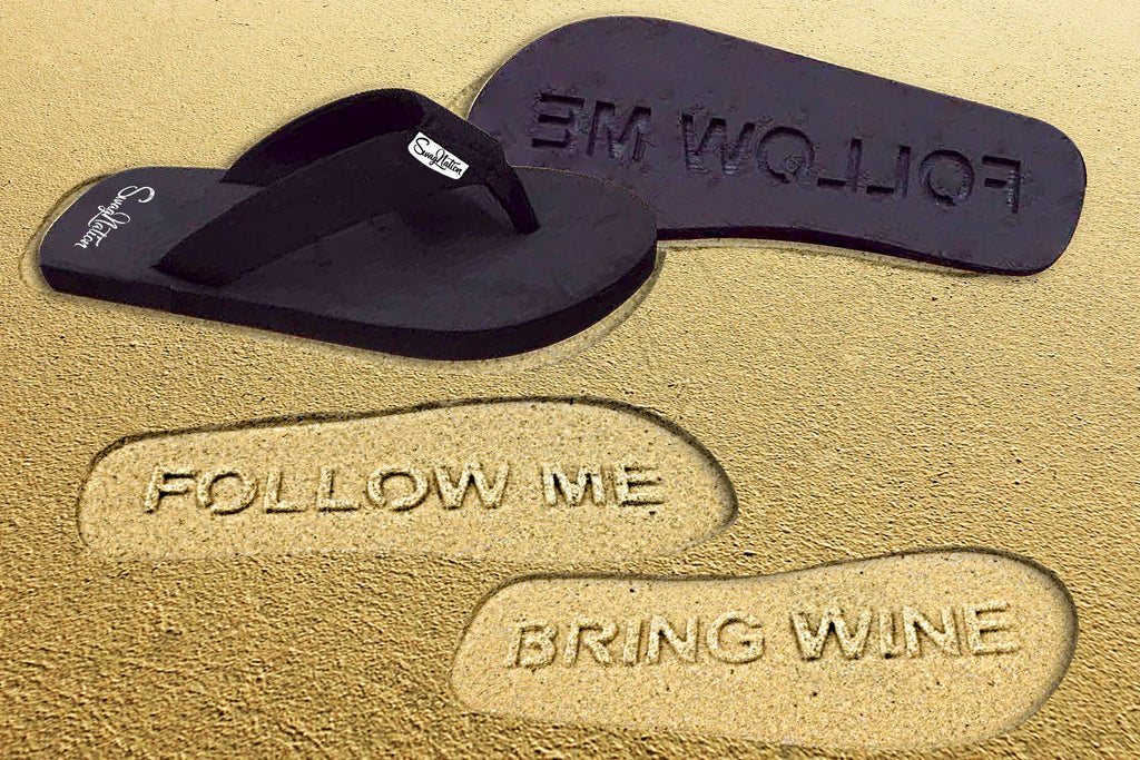 Awesome Wine Flip Flops