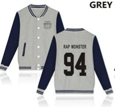 KPOP BTS Bangtan Boys baseball uniform (RAP)
